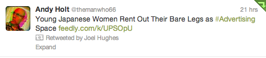 Example of a tweet I retweeted